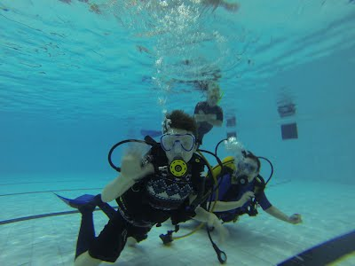 St Columbas Scout enjoying his SCUBA diving experience!