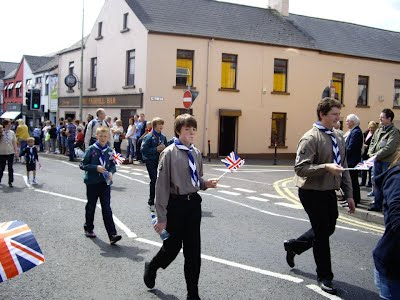 Scouts and Explorers in Diamond Jubilee celebration parade