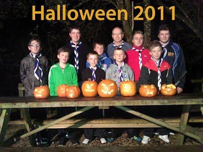 Scouts at Halloween Camp in Marble Arch Park