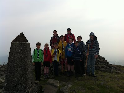 Scouts summit Slieve Croob